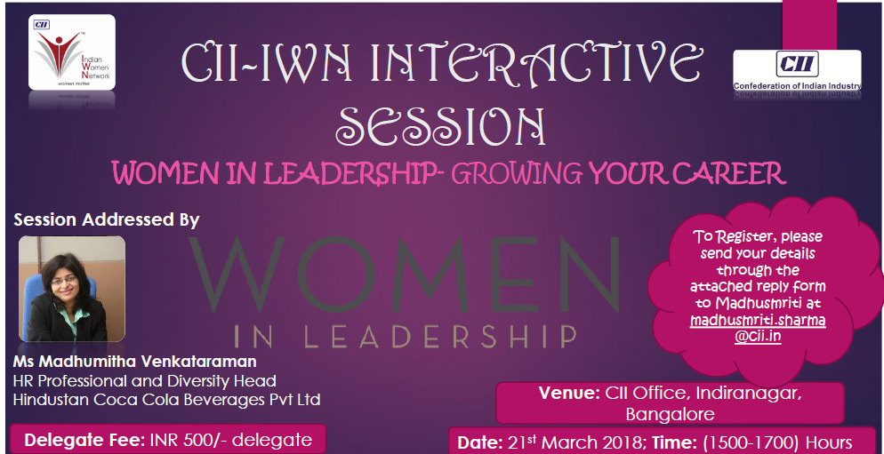"CII-IWN Interactive Session on ""Women in Leadership"""