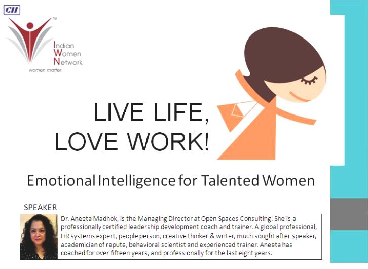 "CII Indian Women Network - Webinar on ""Emotional Intelligence for Talented Women"""
