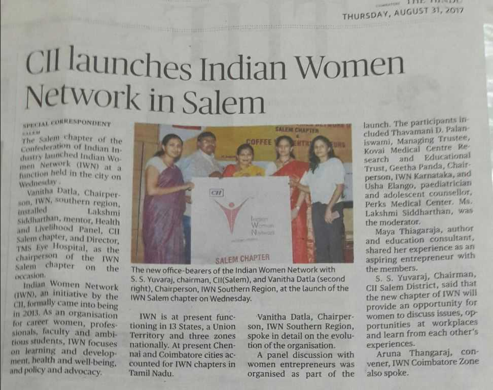 CII Launches Indian Women Network in Salem