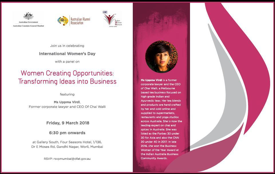 CII IWN Maharashtra Chapter : Women Creating Opportunities: Transforming Ideas into Business