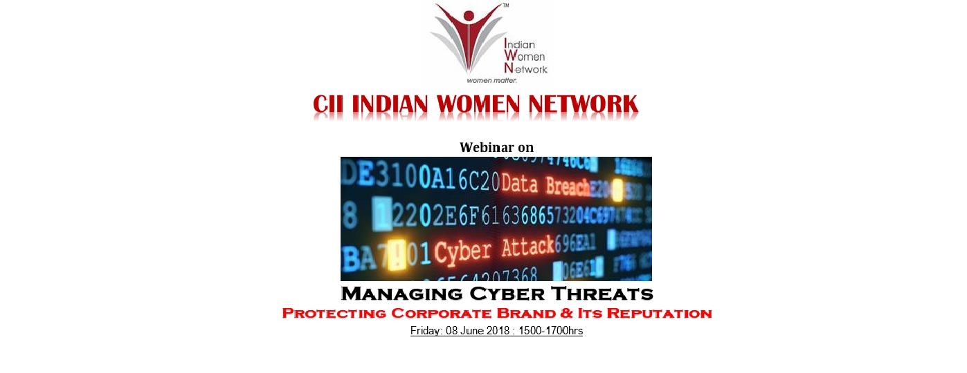 CII IWN Maharashtra Chapter Webinar on - Managing Cyber Threats