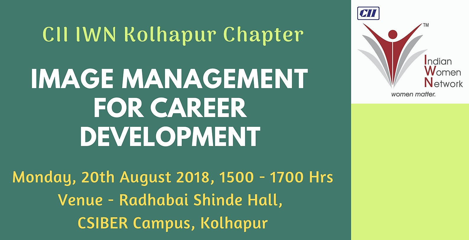 CII IWN Kolhapur Chapter - IMAGE MANAGEMENT FOR CAREER DEVELOPMENT