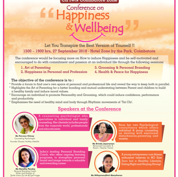 CII IWN Coimbatore Zone Conference on Happiness and Wellbeing