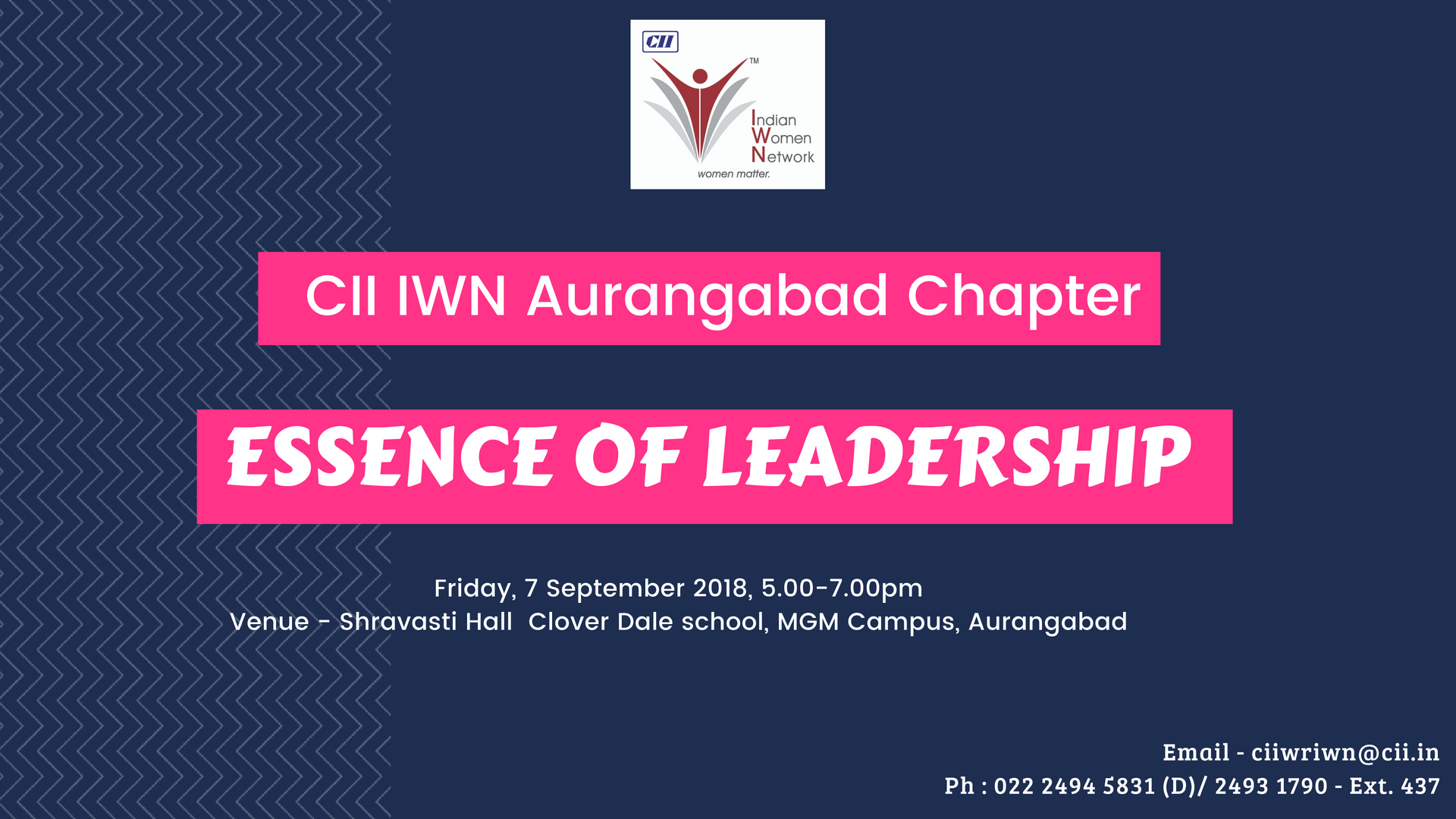 CII IWN Aurangabad Chapter - Session on Essence of Leadership