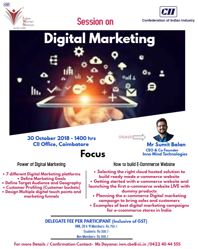 CII-IWN Coimbatore Session on Digital Marketing
