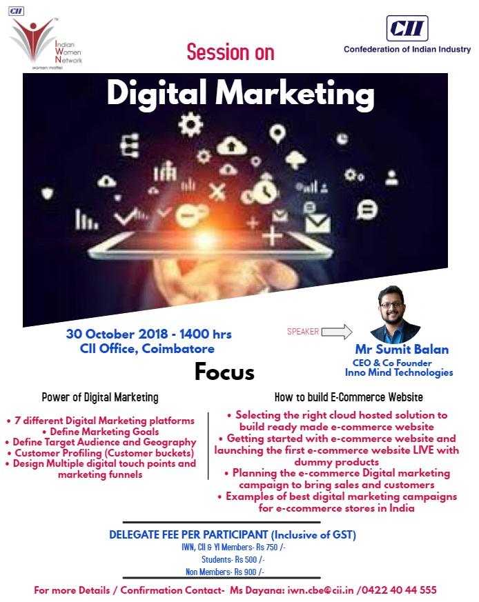 CII-IWN Coimbatore Session on Digital Marketing