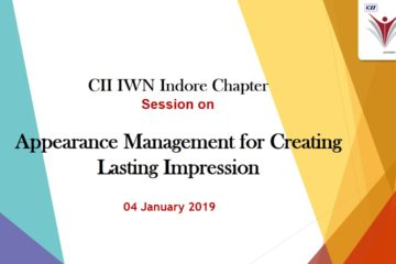 CII IWN Indore Chapter - Session on Appearance Management for Creating Lasting Impression
