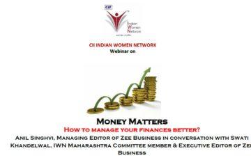 CII IWN Maharashtra Chapter Webinar on Money Matters