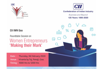 CII IWN Goa Chapter – Roundtable session on Women Entrepreneurs – Making their Mark