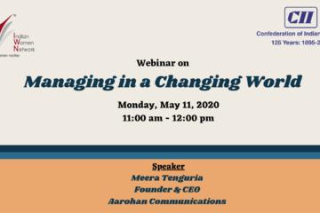 CII IWN WR - Webinar on Managing in a Changing World