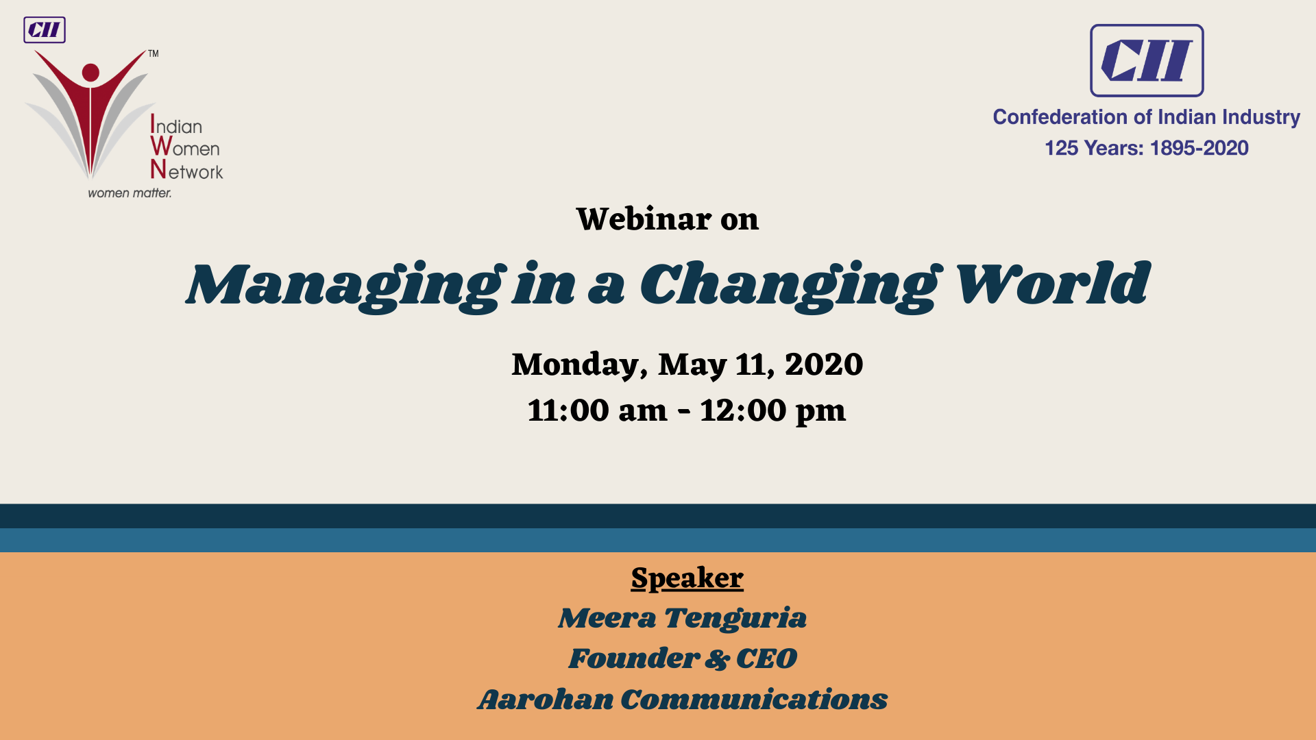 CII IWN WR - Webinar on Managing in a Changing World