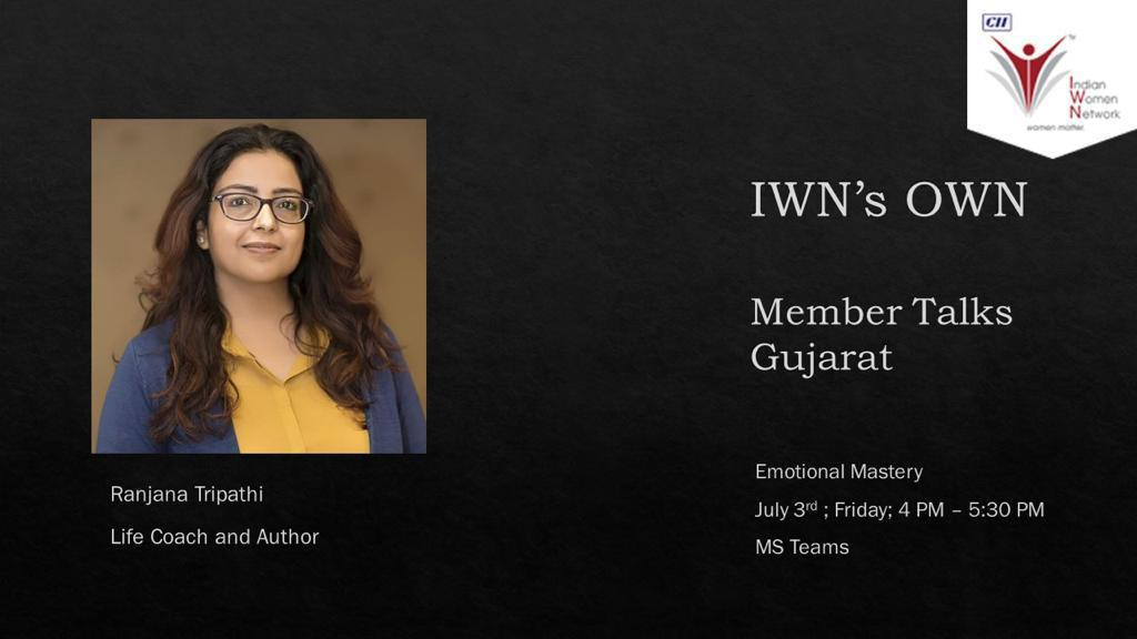 """CII IWN Gujarat Chapter online session on """"IWN's OWN"""""""