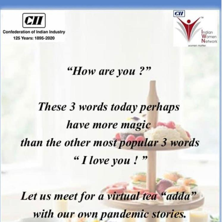 "2nd CII IWN WB Member's Meet - A Virtual ""Adda"" - Chief Guest Ms Vaishali Nigam Sinha"