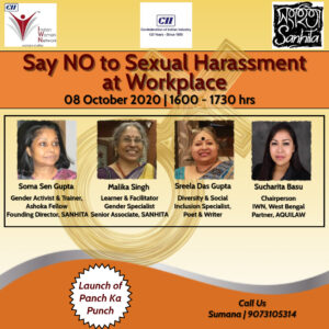 """CII IWN WB Awareness Session """"Say NO to Sexual Harassment at Workplace"""""""