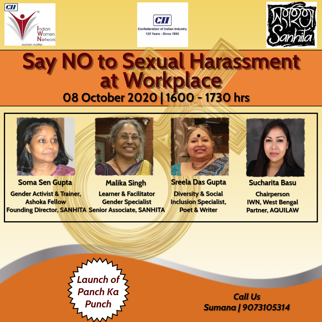 "CII IWN WB Awareness Session ""Say NO to Sexual Harassment at Workplace"""