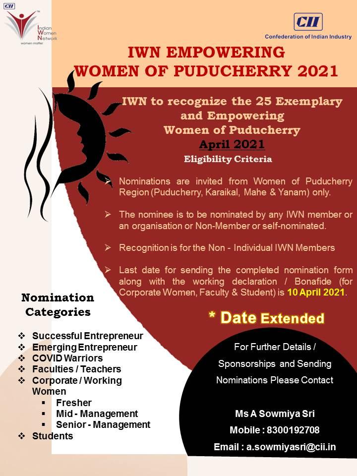 IWN Empowering Women of Puducherry 2021