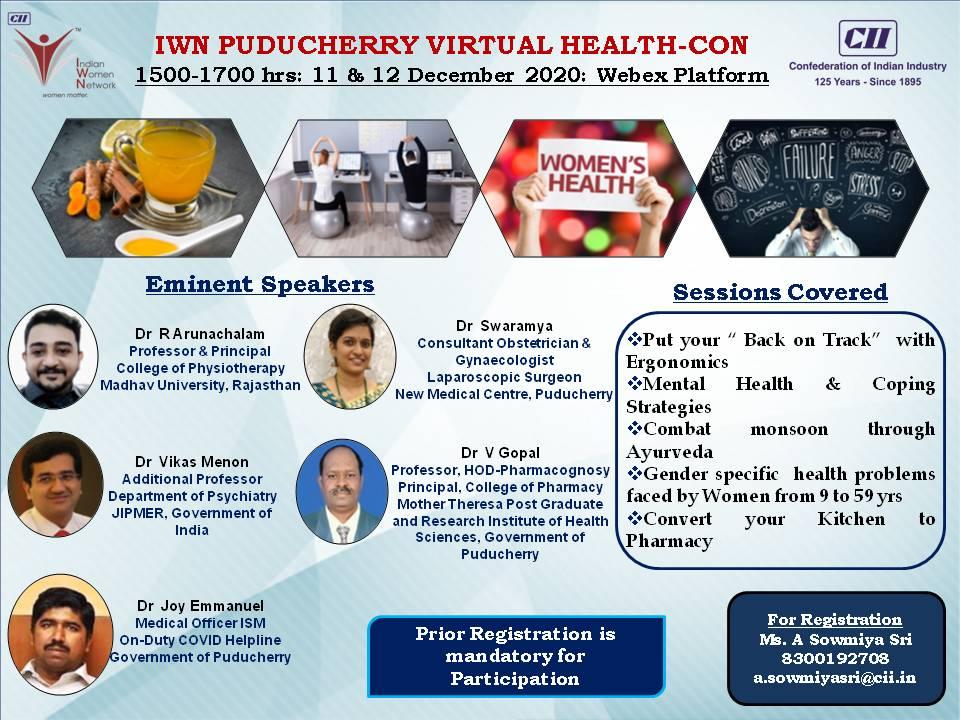 IWN Puducherry Virtual Health Con