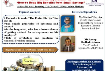 """IWN Puducherry Webinar on """"How to Reap Big Benefits from Small Savings"""""""